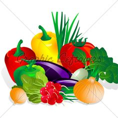 Fresh Vegetables Clip Art | Food Clipart Image - Summer ...