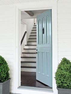 Give your front door a makeover! This one received a coating of high gloss A Breath of Fresh Air.