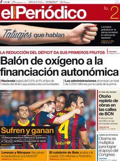 Los Titulares y Portadas de Noticias Destacadas Españolas del 2 de Septiembre de 2013 del Diario El Periódico ¿Que le pareció esta Portada de este Diario Español?