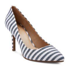 Women's Alexis Pointed Toe Pumps with 3.75 Heels - Denim 5.5, Denim Blue