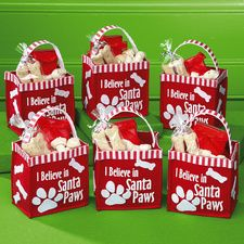 Christmas Treat Bags for Dogs- I have got to make these