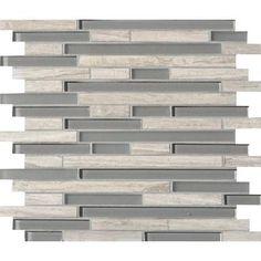 Modamo Waterfall Wooden White Limestone Glass Linear