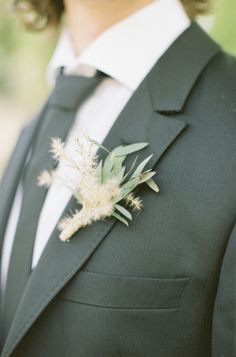 Rustic boutonniere: http://www.stylemepretty.com/little-black-book-blog/2014/12/18/romantic-provencal-fig-berry-wedding-inspiration/ | Photography: Cat Hepple - http://www.cathepplephotography.com/
