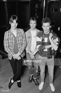 Punk/mod group The Jam, 19th December 1981. Left to right: singer and guitarist Paul Weller, drummer Rick Buckler and bassist Bruce Foxton.