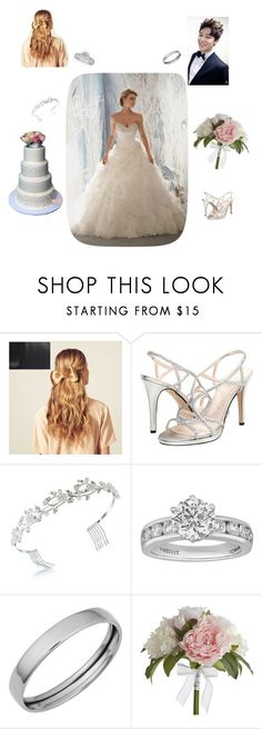 """""""Wedding with the Maknae Line: Jimin"""" by pastelsandflowers ❤ liked on Polyvore featuring beauty, Hershesons, Caparros, Bling Jewelry, Tiffany & Co., Fremada and Pier 1 Imports"""
