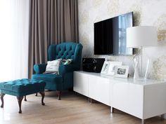 Fotel uszak w intensywnym kolorze