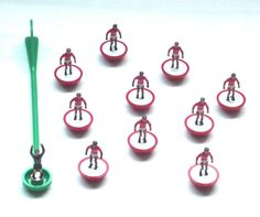 Vintage 1994 Subbuteo Tabletop Football Soccer, Red & white Sharps team - RARE by BunkysVintageCrafts on Etsy