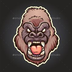 #Angry #Gorilla - Animals #Characters Download here:  https://graphicriver.net/item/angry-gorilla/20131160?ref=alena994