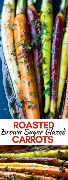 Roasted Rainbow Carrots Recipe with Brown Sugar Glaze