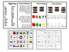 Kindergarten Homework Folders- Everything you need to make your homework folders