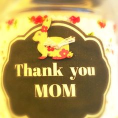 How to make an adorable printed fabric tag for Mothers Day