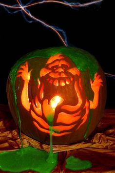 """""""Slimer"""" inspired by the movie Ghostbusters by Alicia T., Midwest City, OK"""