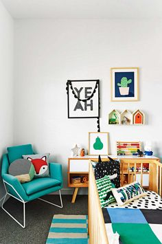 Clean and eclectic nursery | 10 Lovely Little Boys Rooms Part 6 - Tinyme Blog