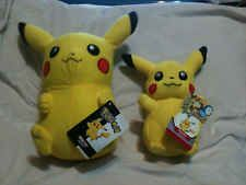 2 Pikachu Pokemon Plush Dolls Toy from The Toy Factory NwTs 10 1/2 in and 8in T!