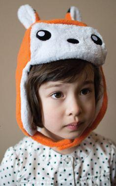 crazyheads Kids Orange Fox Trapper Hat with cute face- SALE $17.49