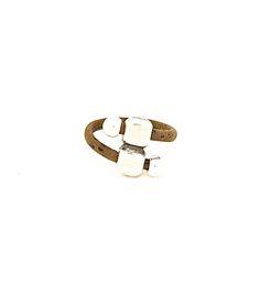 Uniquely Double SIlver Bead Ring Dark - Lufli Cork Ring #cork #ring #lufli