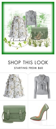"""""""CHICWISH-Contest with prize($50 gift card) Let's Blossom on a Mesh Skirt"""" by dinka1-749 ❤ liked on Polyvore featuring Chicwish, Alexander McQueen and The Cambridge Satchel Company"""