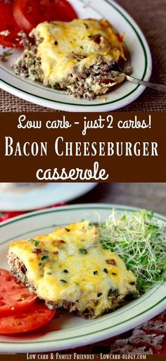 Easy, low carb weeknight supper! Bacon cheeseburger casserole recipe has just 2 carbs and is family friendly! From Lowcarb-ology.com via @Marye at Restless Chipotle