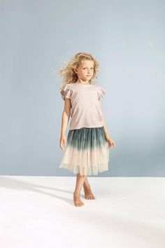 Kids On the Moon - Ombre Tutu Skirt / Grey Pale Pink