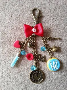 Alice in Wonderland inspired Bag Charm  £8.50 Made by me