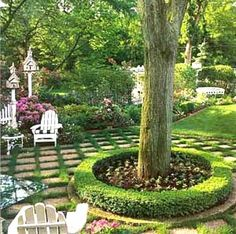30 Popular Tree Ring Landscape Design Ideas For Your Garden – Back Yard Plants Flower Landscape, Landscape Design, Garden, Landscaping Around Trees, Flower Planters, Raised Garden, Backyard Landscaping, Backyard, Fountains Outdoor
