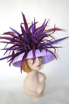 83928acb636 NEW Vinzetta Millinery Kentucky Derby Hat Purple Lavender Custom Wide Brim