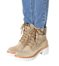 Vivane khaki suede ankle boots