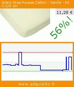 Jollein Drap-housse Cotton - Vanille - 60 X 120 cm (Puériculture). Réduction de 56%! Prix actuel 11,28 €, l'ancien prix était de 25,62 €. https://www.adquisitio.fr/jollein/5100007-drap-housse