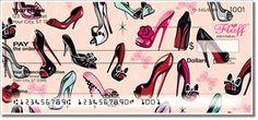 Pinup Shoes personal checks ~ Girly designs @ checkspressions.com