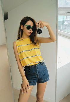 Official Korean Fashion Blog: Korean Summer Fashion                                                                                                                                                     More