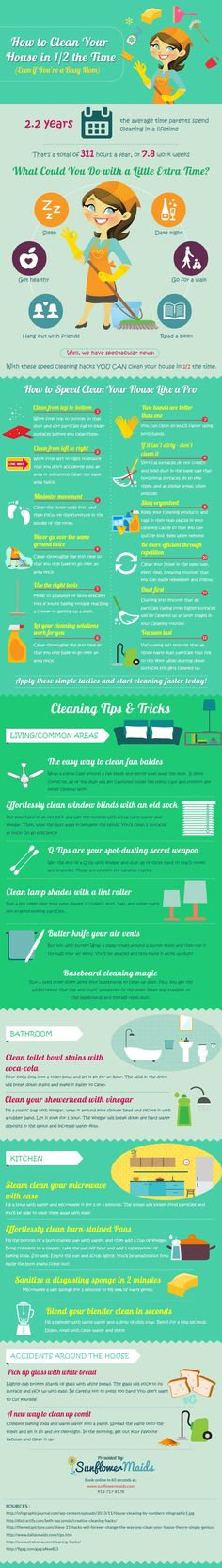 This guide doesn't include just half-assing all of your cleaning either.