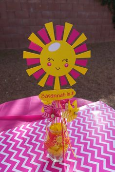 You Are My Sunshine Party Double-sided Table by BannersAndStuff