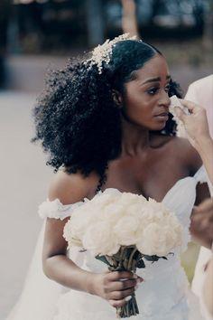 Natural Hair Wedding, Natural Wedding Hairstyles, Wedding Hair And Makeup, African Wedding Hairstyles, Natural Hair Brides, Wedding Bride Hairstyles, Black Bridal Makeup, Wedding Updo, Boho Wedding