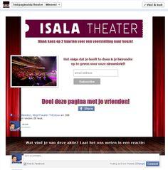 Isala Theater Promo Tab Fangate  Fan View. $149.95 (prijs = incl. Non Fan view)