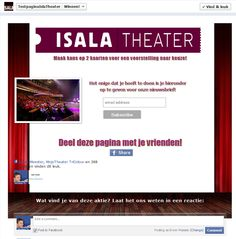 Isala Theater Promo Tab Fangate  Fan View. $149.95 (prijs = incl. Non Fan view)