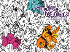 A captivating underwater coloring book that brings the beauty of Flora and the enchantment of different underwater creatures!
