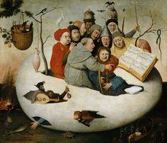 Концерт в яйце (копия утраченного оригинала). Иероним Босх. Описание картины, скачать репродукцию.