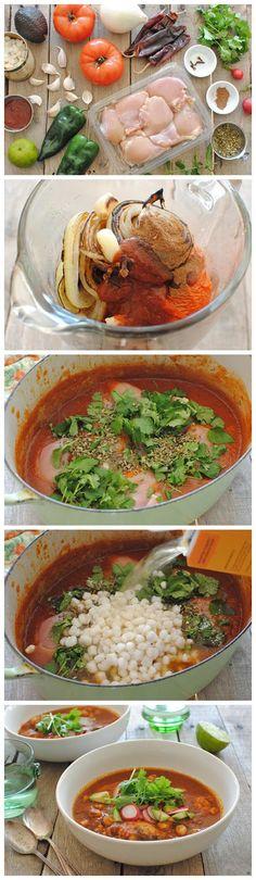 Sriracha Chicken Pozole - kiss recipe