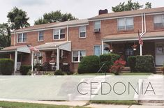 Cedonia in Northeast Baltimore is a quiet residential neighborhood bordering Moore's Run Park, Radecke Park and Gardenvillage Park. It offers brick duplexes and townhomes surrounded by plenty of green space! Baltimore Neighborhoods, Current Location, Semi Detached, Rental Apartments, House Prices, Public School, Home Buying, Townhouse, Brick