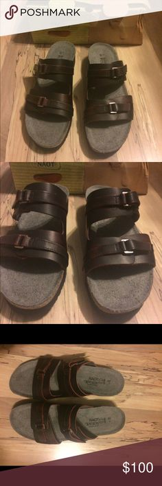 NIB Naot sandals NIB Nsot volcanic red leather sandals. Naot Shoes Sandals
