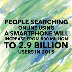 Picture that many smartphones! It's almost the end of 2015 and you can bet that that 2.9 billion has gone up. If the iPhone 4 is free with starting a plan then you can get an idea of how many people own smartphones. Mobile-friendly is the now. Get with the times.