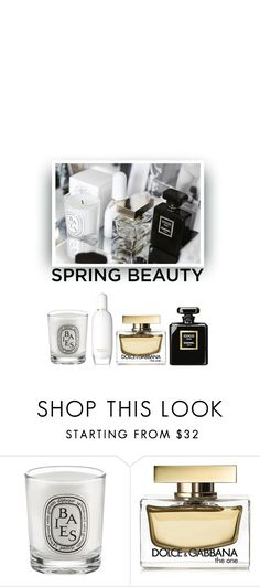 """Spring Scents"" by hollowpoint-smile ❤ liked on Polyvore featuring beauty, Diptyque, Dolce&Gabbana, Chanel and Clinique"