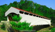 BARRACKVILLE COVERED BRIDGE\nLemuel Chenoweth, a covered bridge builder and contractor from Beverly, built The Barrackville covered bridge in 1853.  It is a multiple Kingport truss with a Burr arch, 148 feet in length and 20 feet wide.  It was completely restored in 1999.\n  It is located on Marion County Route 21 in Barrackville, West Virginia.
