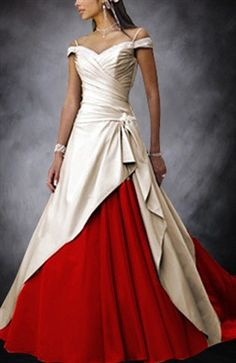 Sweep/ Brush Train Off-the-shoulder Wedding Gowns
