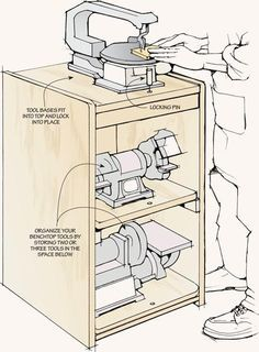 Space-Saving Tool Stations: Maximize your workshop space and work more efficiently with these helpful ideas. Space-Saving Tool Stations Source by The post Space-Saving Tool Stations appeared first on Cassidy Woodworking.
