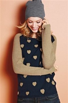 Buy Fun Boucle Heart Sweater from the Next UK online shop Heart Sweater, Fashion Outfits, Womens Fashion, Fashion Styles, Latest Fashion, Cute Sweaters, Sweater Weather, Coat, Autumn Fashion