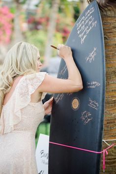 @heathersavage    Surf board guestbook | Wedding & Party Ideas | 100 Layer Cake