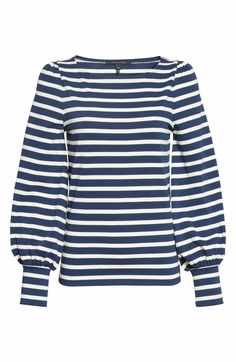 Main Image - MARC JACOBS Reverse Breton Stripe Bell Sleeve Top