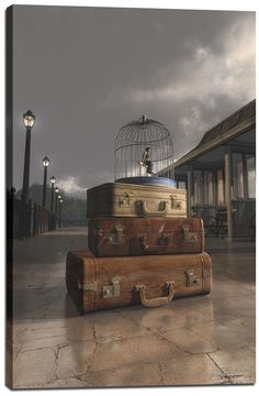 Traveling by Cynthia Decker Graphic Art on Wrapped Canvas