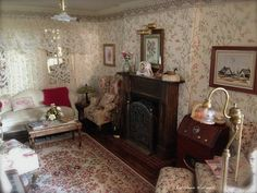 Kathleen Holmes New Dollhouse Living Room
